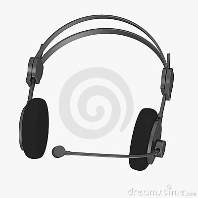 Headphones and microphone (operator headphones)