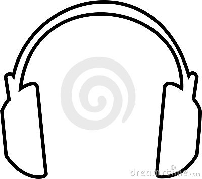 Headphones Outline