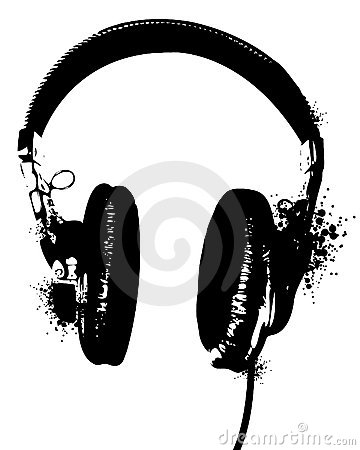 Free Headphones Stencil Royalty Free Stock Photo - 14549765