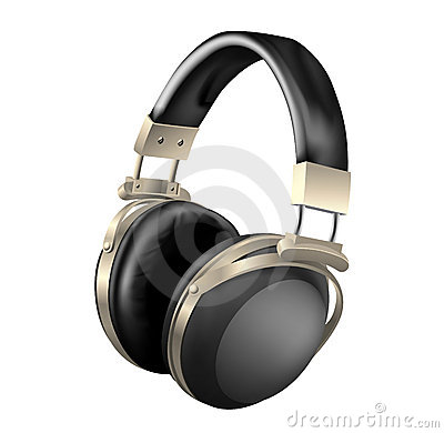 Headphones - vector illustration