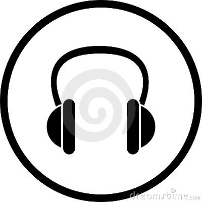 headphones vector symbol