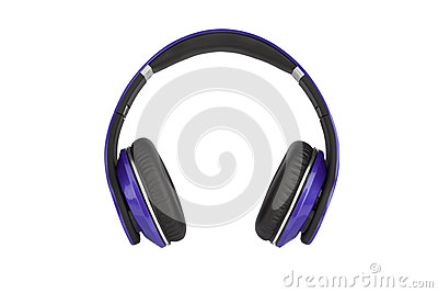 Headphones on white backgroun