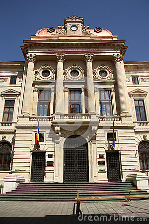 Headquarters of the National Bank of Romania Editorial Photography