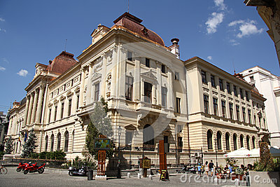 Headquarters of the National Bank of Romania Editorial Stock Image