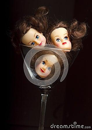 Heads in A Glass
