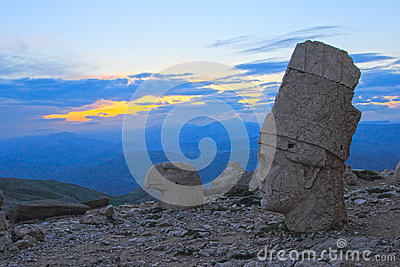 Heads of the statues on Mount Nemrut in Turkey, UNESCO