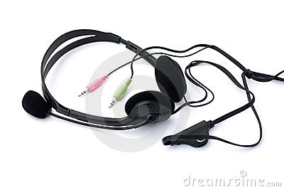 Headset with microphone with jacks isolated