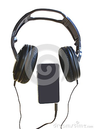 A headset and a mp player