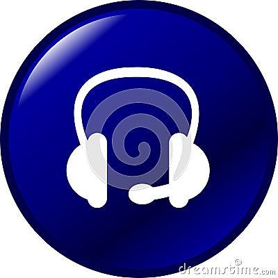 headset vector button