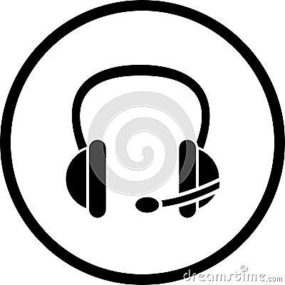 headset vector symbol