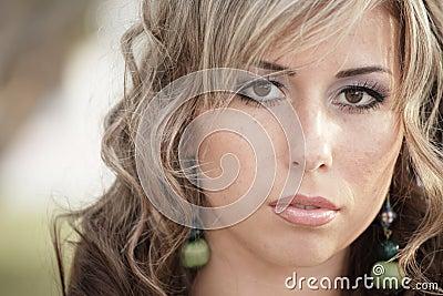 Headshot of a beautiful young woman