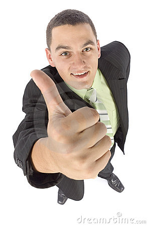 Headshot of happy businessman - OK
