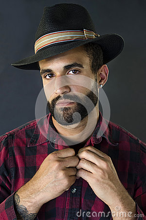 Headshot of a Man with Beard and Hat
