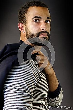 Headshot of a Man with Beard