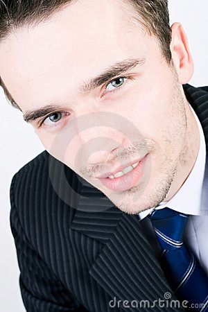 headshot portraiture of young handsome businessman