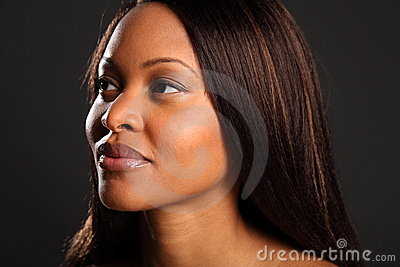 Headshot of stunning beautiful black woman