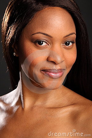 Headshot of stunningly beautiful black woman
