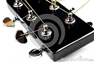 Headstock da guitarra acústica