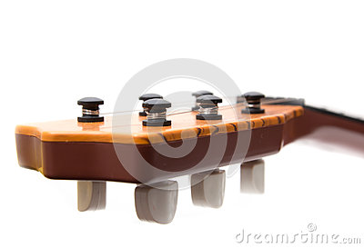 Headstock of the guitar