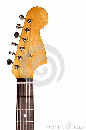 Free Headstock Of The Classic Electric Guitar Royalty Free Stock Image - 44770496