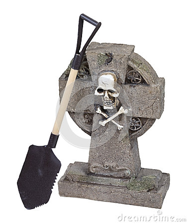 Headstone With Shovel