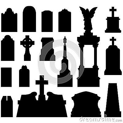 Headstones And Gravestones In Vector Stock Photos Image