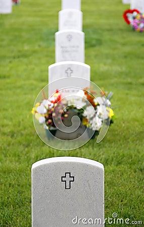 Headstones in Military Cemetery