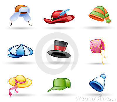 Headwear盖帽的帽子