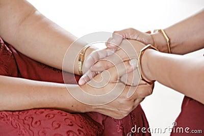 Healing hands of meditative love wellness