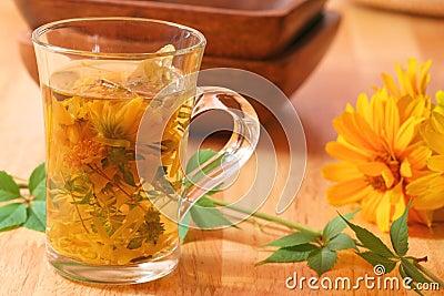 Healing herbal tea for winter time