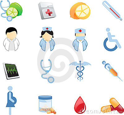 Free Health And Nutrition Icons Stock Images - 5596584