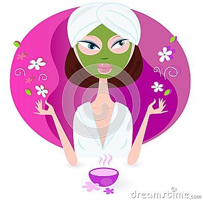 Free Health And Spa: Girl Enjoying Aromatherapy Royalty Free Stock Image - 15046436