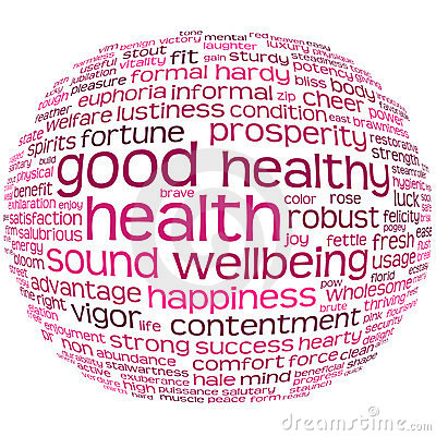 Free Health And Wellbeing Tag Cloud Royalty Free Stock Images - 17342059