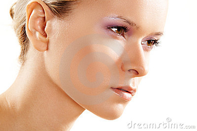 Health & beauty. Attractive clean female face