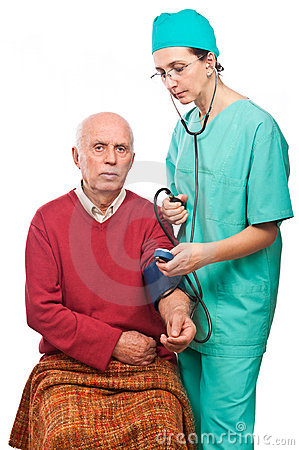 Health care blood pressure check