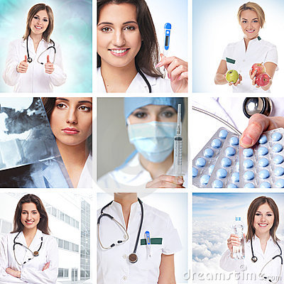 Free Health Care Collage Made Of Some Pictures Royalty Free Stock Images - 21617989