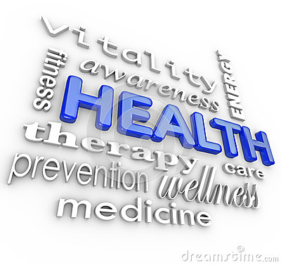 Health Care Collage Words Medicine Background
