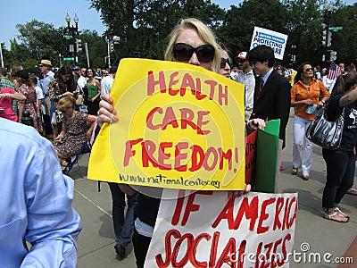 Health Care Freedom Editorial Photo