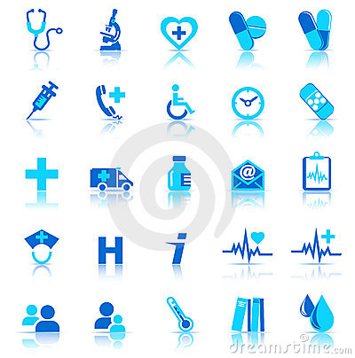 Free Health Care Icons Stock Images - 16082754