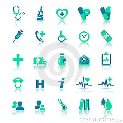 Free Health Care Icons Stock Photos - 17041753