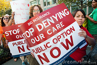 Health Care Protest Editorial Photography