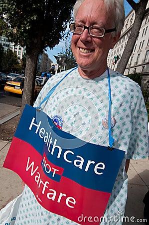 Health Care Protest Editorial Photo
