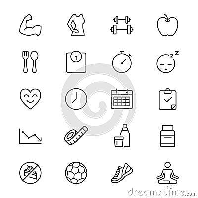 Free Health Care Thin Icons Royalty Free Stock Photo - 49814355