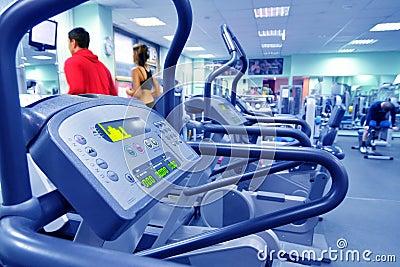 Health club in blue