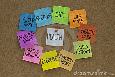 Health concept - cloud of related words and topics