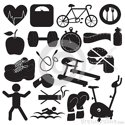 Health and Fitness Icons Collection