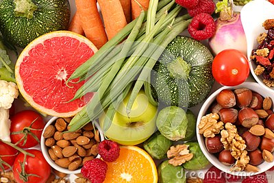 Health food assortment Stock Photo