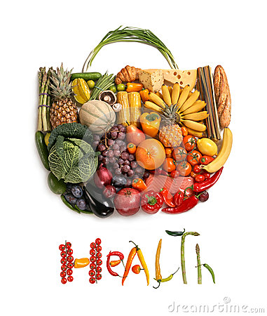 Free Health Food Handbag Royalty Free Stock Photos - 35865278