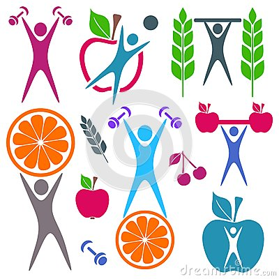 Health and food icons