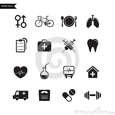 Health Icons. Vector